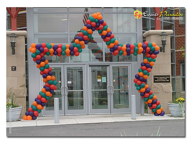 Balloon and Styrofoam Decorations
